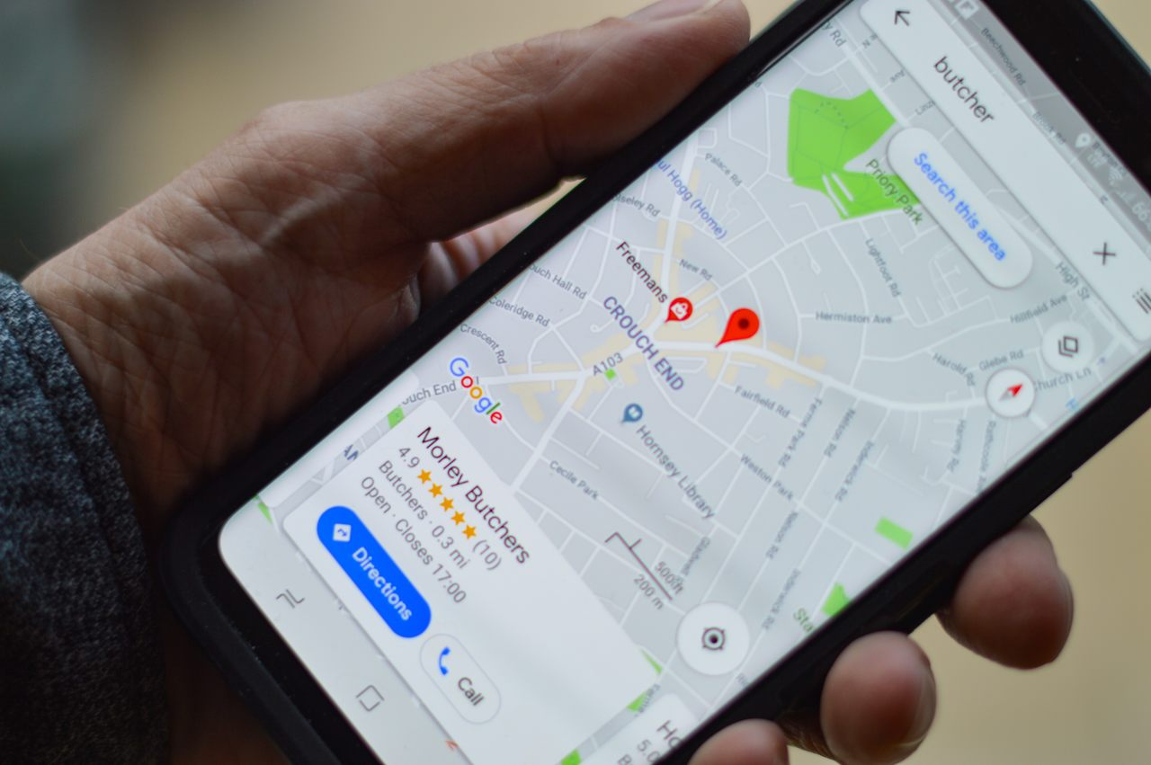 google maps aberto em iphone