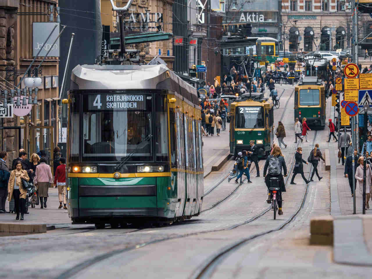 rede de trasnportes em helsinque na finlandia
