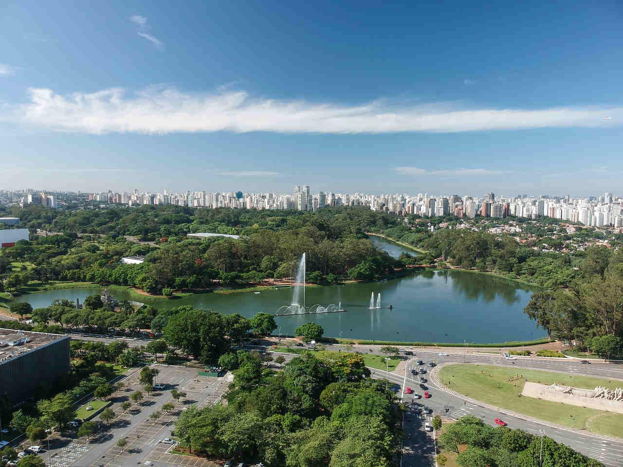 parque ibirapuera em sao paulo