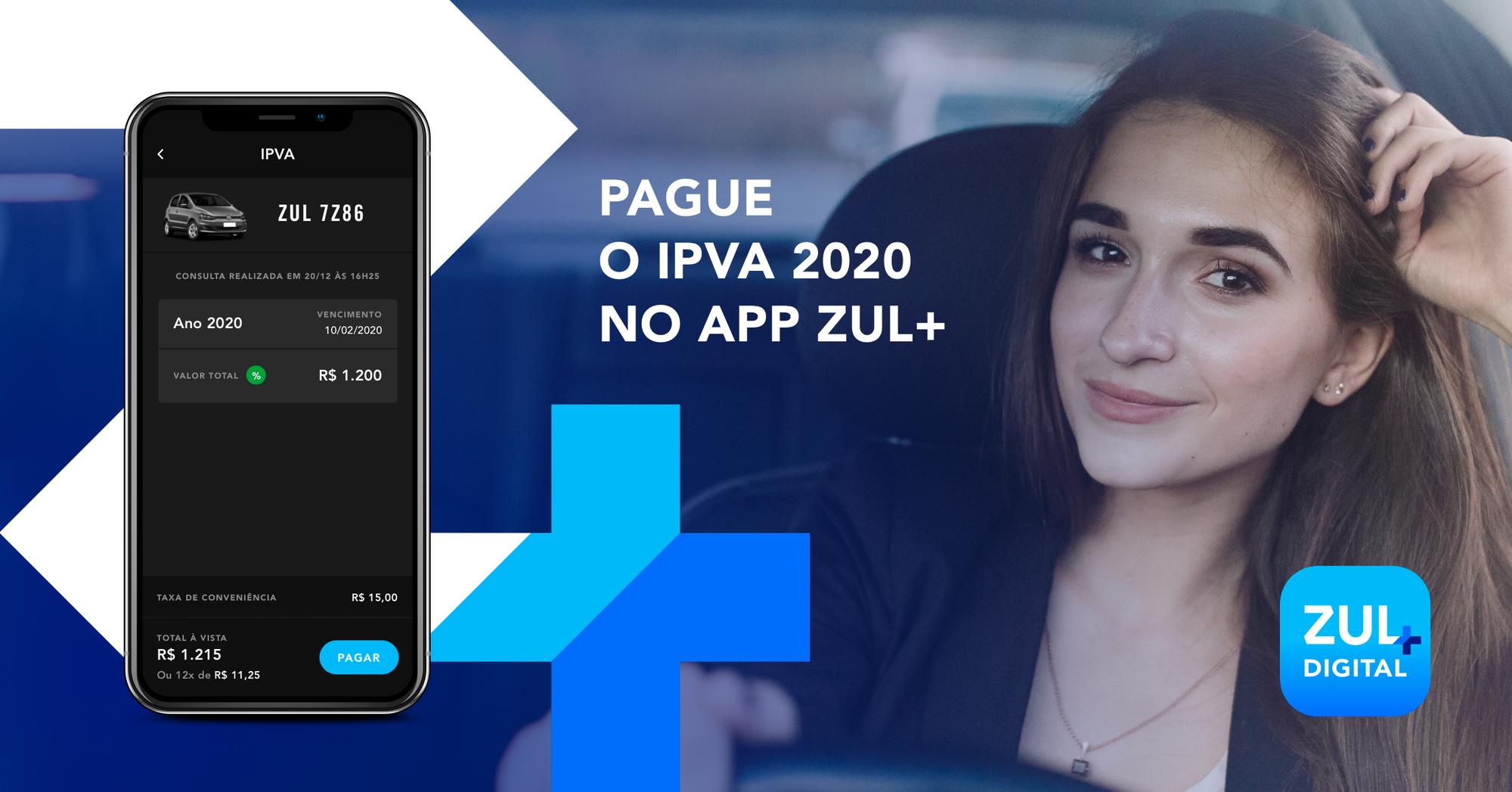 Pague o IPVA com Zul+