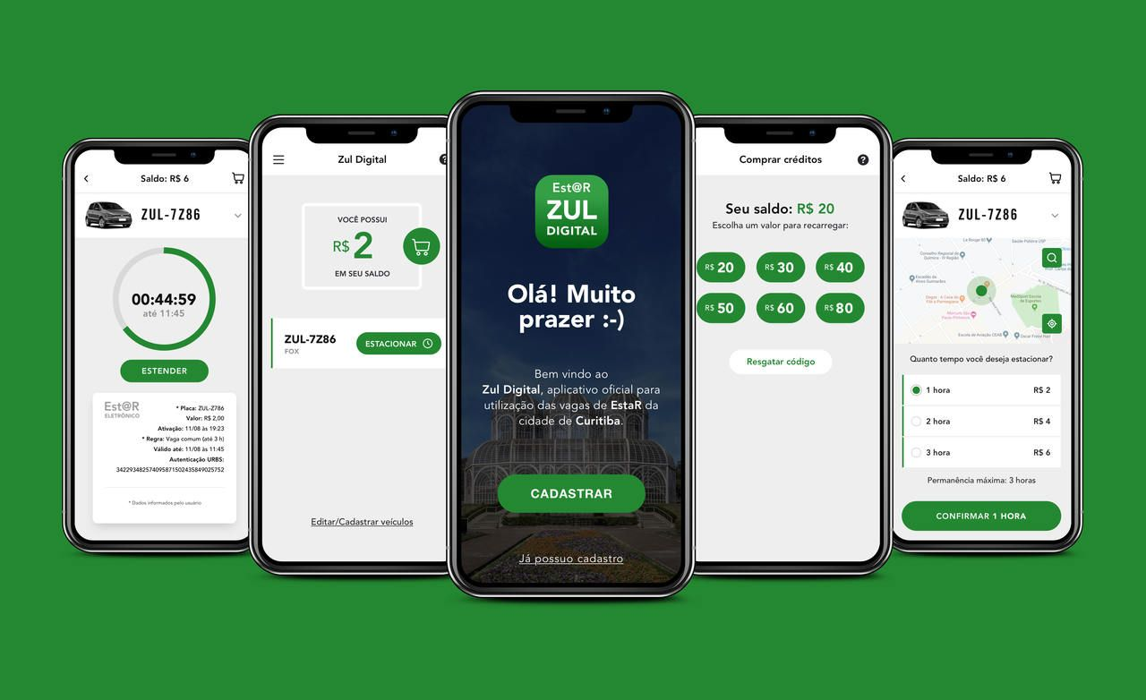 telas aplicativo oficial Zul Estar digital credenciado pela URBS