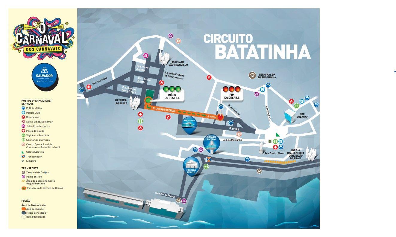 guia folião carnaval salvador circuito batatinha 2020