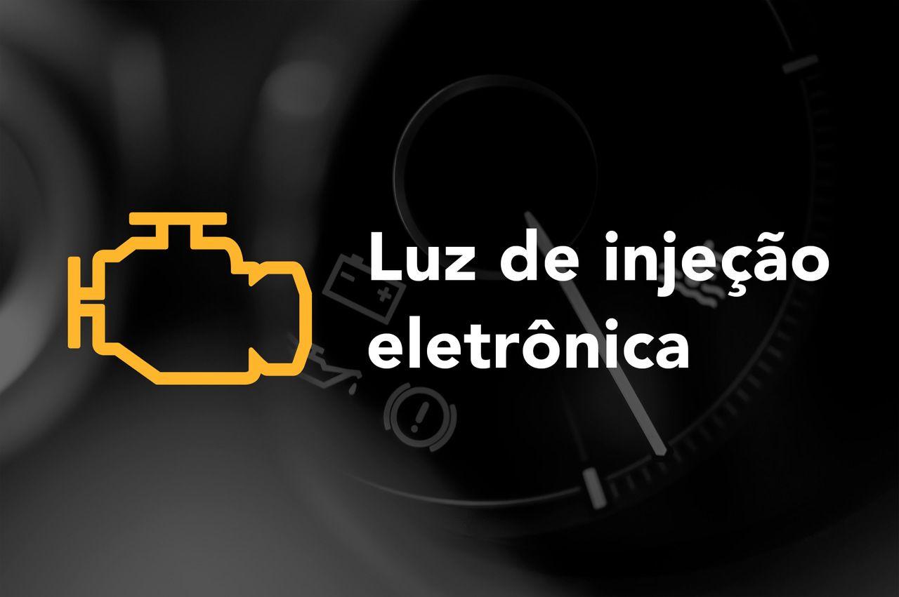 Luz de injeção eletrônica painel do carro