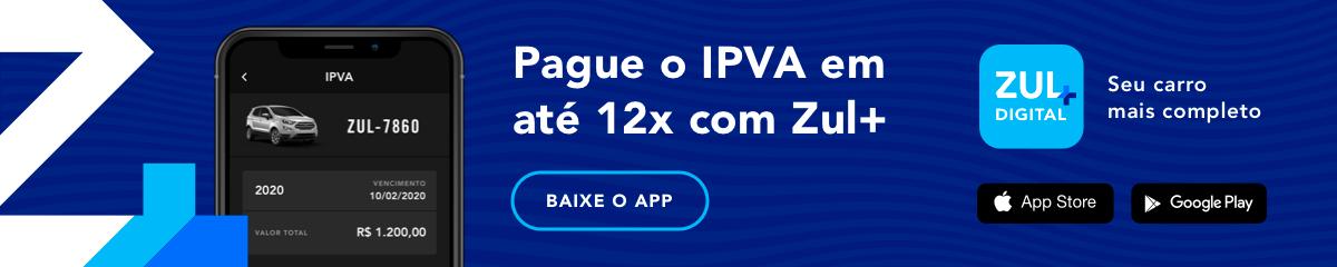 imagem com tela de pagamento de ipva zul+
