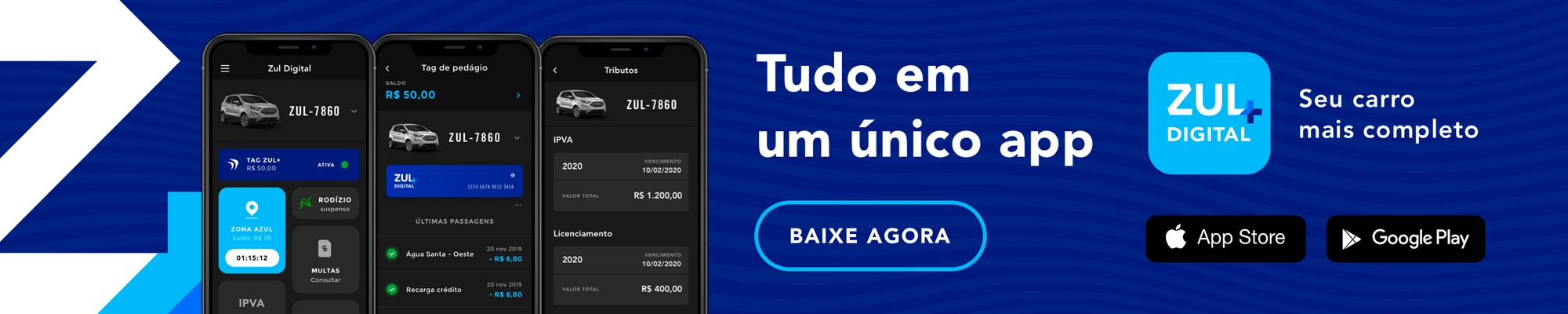 telas do app zul+