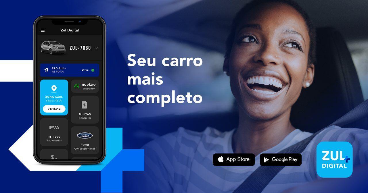 aplicativo para carros Zul+