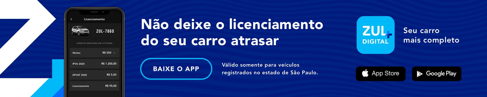 banner zul+ Não deixe o licenciamento do seu carro atrasar